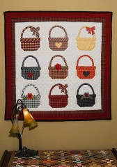 Plaid Baskets, Hand Quilted! Pattern from America&#039;s Best Quilting Projects, 1996