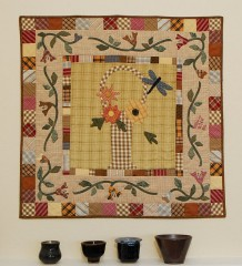 Round Robin Block Exchange, Center Block pattern from Country Threads