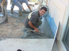We hired these 3 guys to do the cement work between the house and the studio