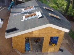 Roofing paper is installed