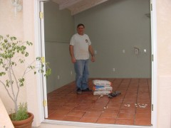 The floor is in and ready for grout